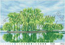ТП029 Барвиста Вышиванка. Весенний Островок Посреди Озера. А2 (набор 3900 рублей)
