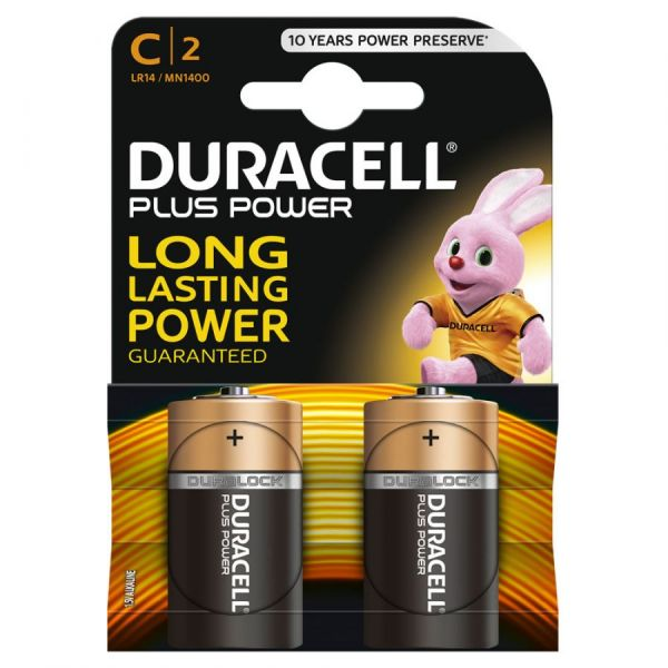 Блистер с элементами питания DURACELL LR14  BL2 (набор из  2-х батареек)
