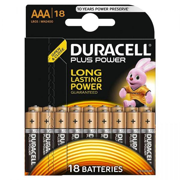 Блистер с элементами питания AAA DURACELL LR03 BL18 (набор из 18 батареек)