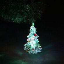 Светящаяся светодиодная ёлочка с шишками Marry Christmas 8 см