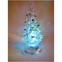 Светящаяся светодиодная ёлочка с шишками Marry Christmas, 12 см
