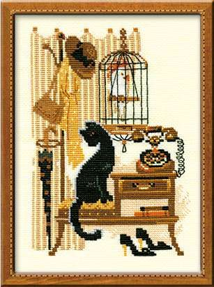 Набор для вышивания крестом Телефон №860 фирма Риолис