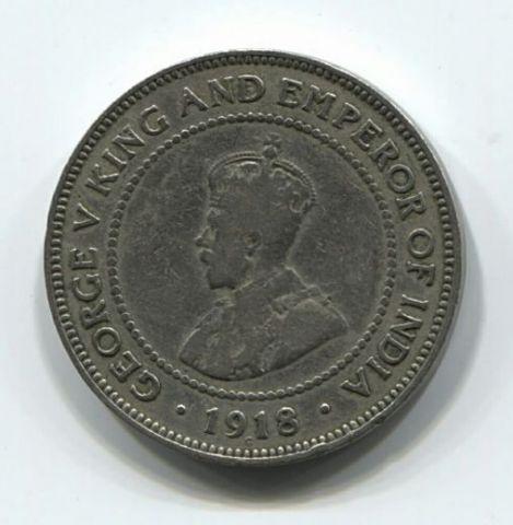 1/2 пенни 1918 года Ямайка