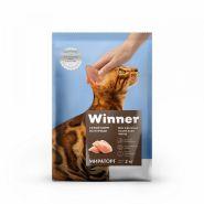 Winner Полнорационный сухой корм для взрослых кошек всех пород из курицы 0,4кг