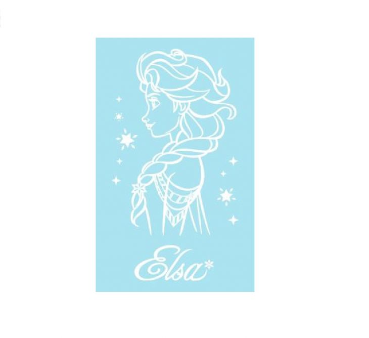 Полотенце Disney 50х60 Frozen Elsa аква/белый 741994