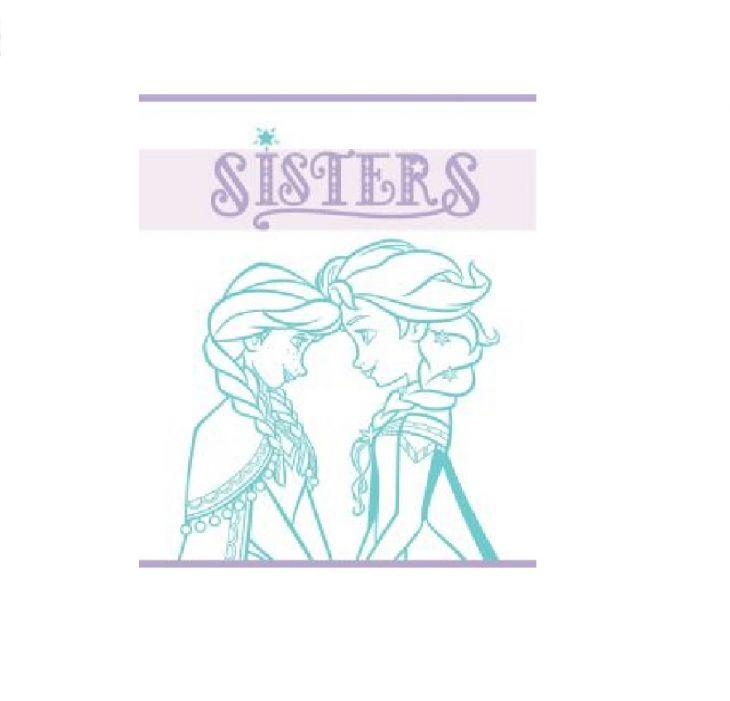 Полотенце Disney 50х60 Frozen Sisters аква/белый 741994