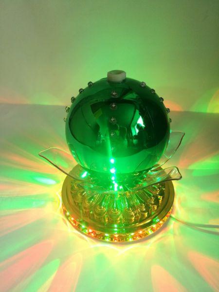 LED-светильник Лотос с шаром цветной 14 см, Серебряный