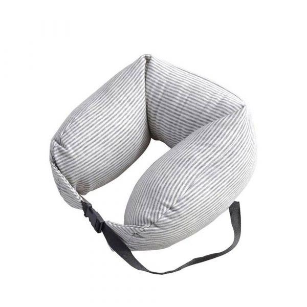 Туристическая подушка-валик с застёжкой U-Neck Pillow