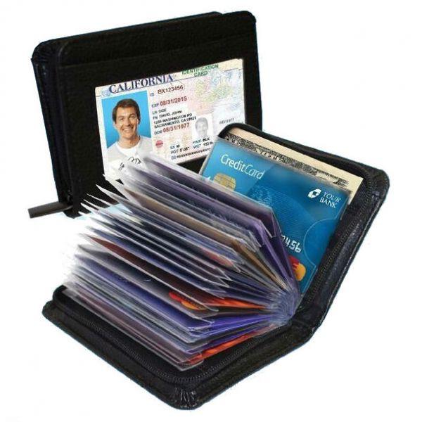 Визитница Lock Wallet с защитой RFID от бесконтактной кражи с банковских карт