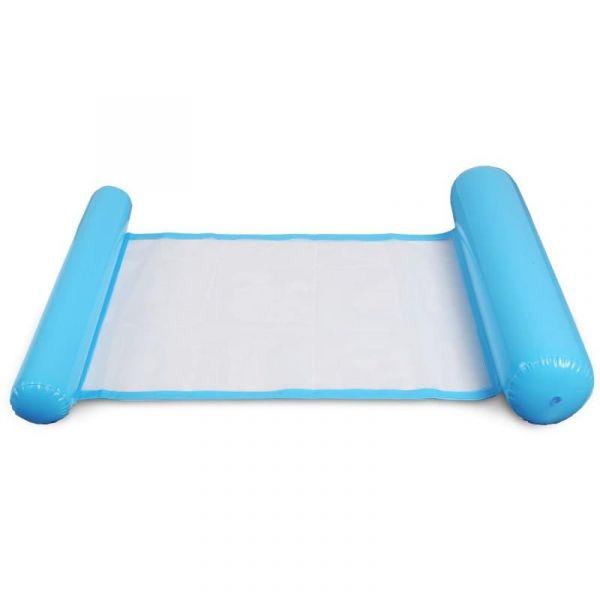 Надувной шезлонг для плавания Floating Bed, цвет голубой