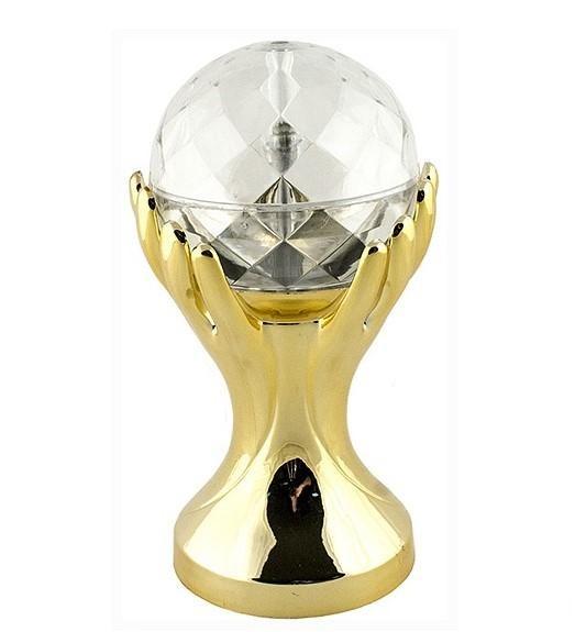 Декоративный LED-светильник Шар В Руках 18 см, Золото