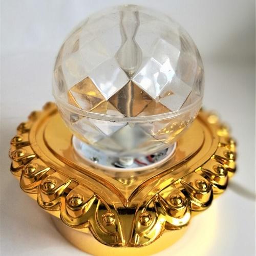 Декоративный LED-светильник на подставке Шар 12 см, Золотой