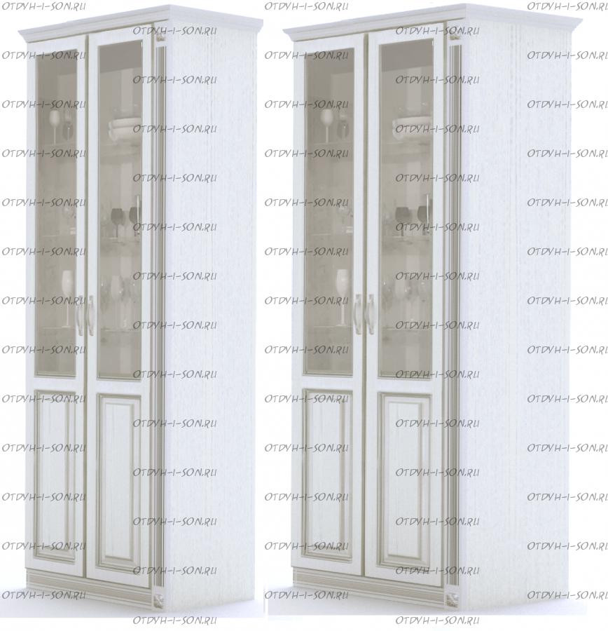Шкаф-витрина 2-дверный Ферсия, мод. 29 МДФ с 1 пилястрой справа