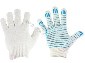 Перчатки Х/Б 10 класс вязки , 5-ти нитка , с ПВХ