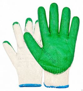Перчатки трикотажные , двойное латексное покрытие