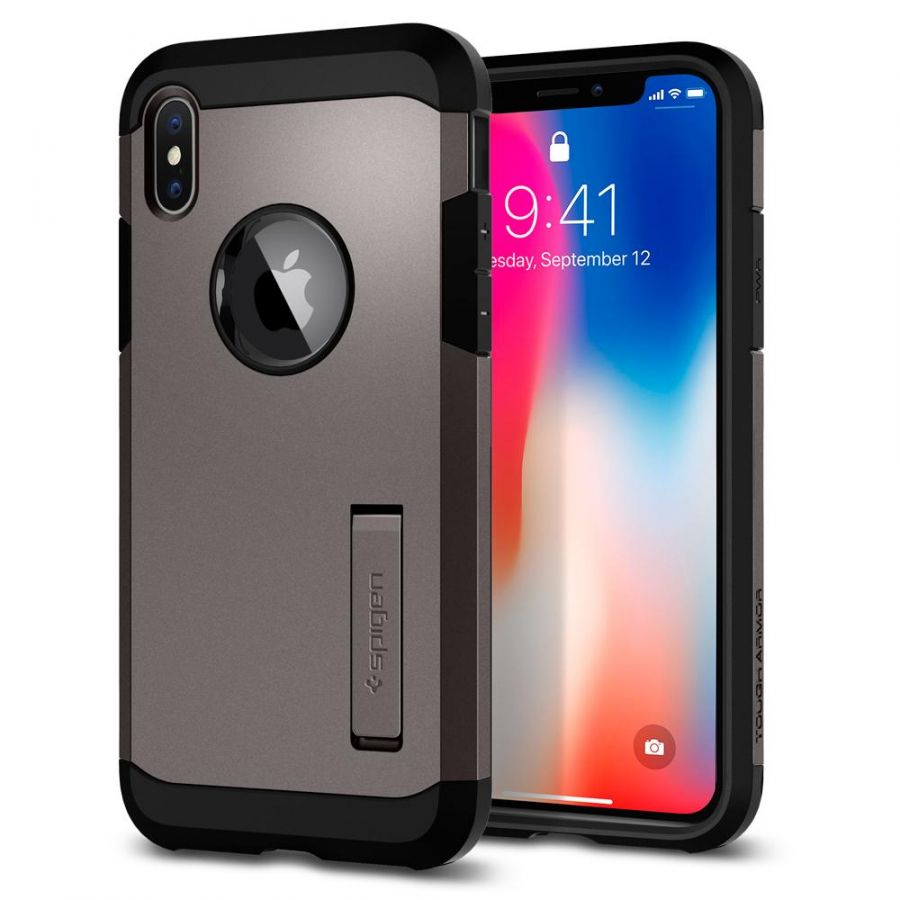 Чехол SGP Spigen Tough Armor для iPhone X стальной