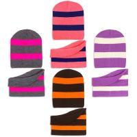 Комплект  для девочки 6-12 лет( шапка на флисе, снуд) №SG135