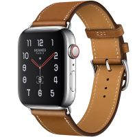Apple Watch Hermes Series 5 44mm Stainless Steel GPS + Cellular Fauve Leather Single Tour