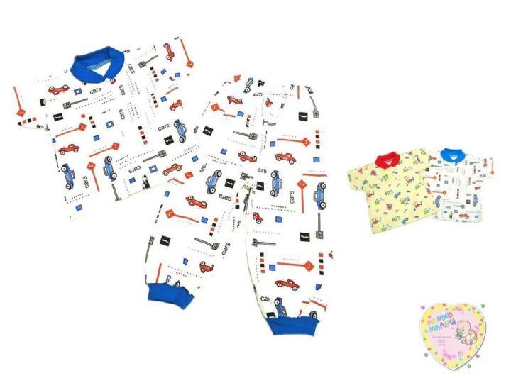 Пижама с кокеткой с коротким рукавом kC-PJ023(2)-ITp (интерлок)