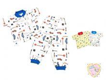 Пижама с кокеткой kC-PJ023(2)-ITp Мамин Малыш OPTMM.RU