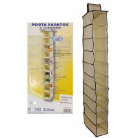 Органайзер подвесной на 10 полок PORTA SAPATOS (цвет бежевый)_3
