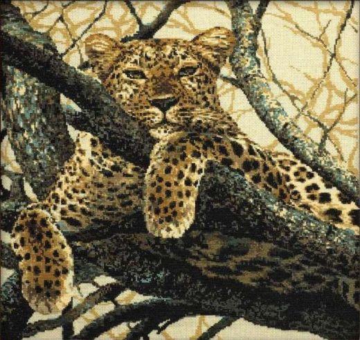 Набор для вышивания крестом Леопард №937 фирма Риолис