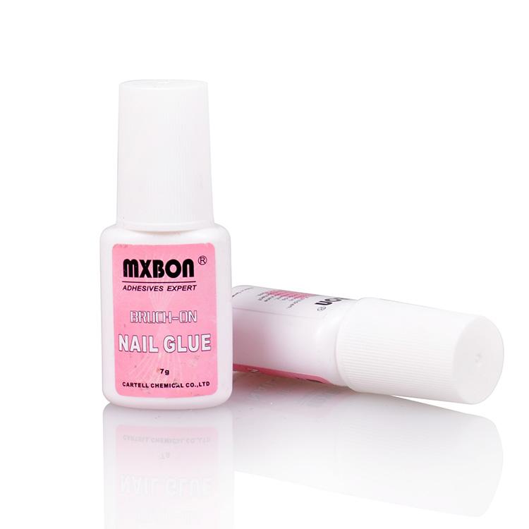 Клей MXBON для типс и ремонта ногтей с кисточкой (прозрачно-розовый) 7гр Тайвань