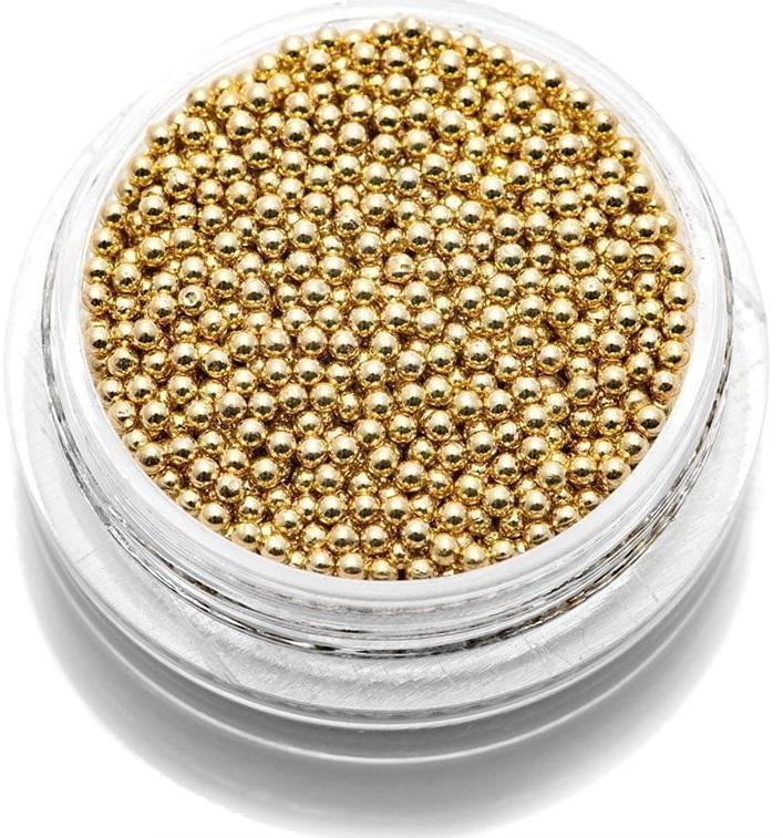 Бульонки металлические для дизайна (золото) 1.2 в баночке