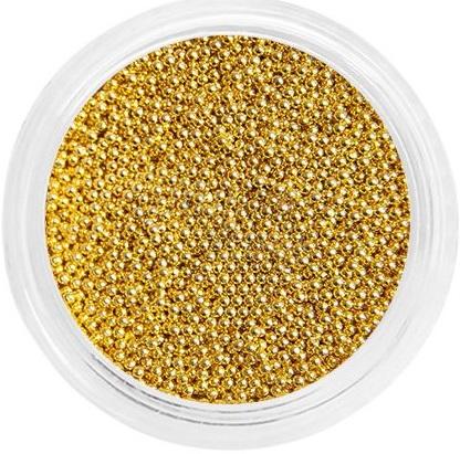 Бульонки металлические для дизайна (золото) №0,4 в баночке