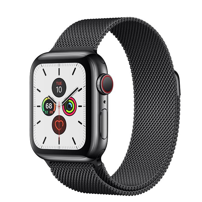Apple Watch Series 5 44mm Stainless Steel Space Black Milanese Loop
