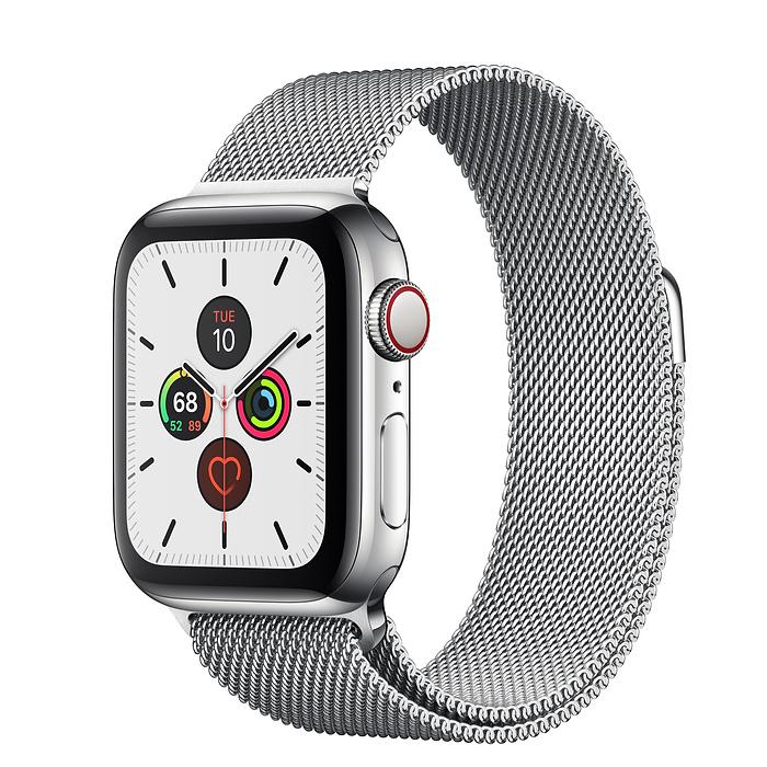 Apple Watch Series 5 44mm Stainless Steel Silver Milanese Loop