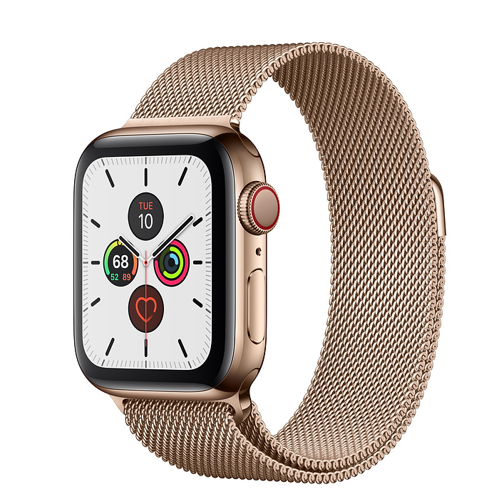 Apple Watch Series 5 40mm Stainless Steel Gold Milanese Loop
