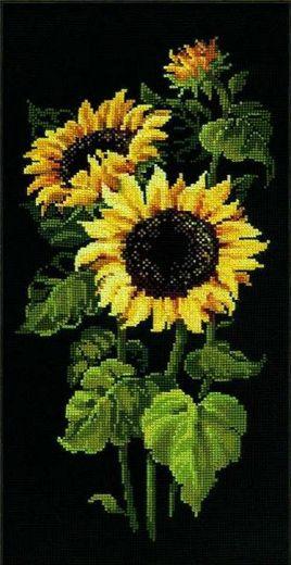 Набор для вышивания крестом Подсолнухи №1056 фирма Риолис