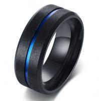 Черное титановое кольцо