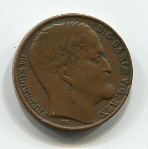 1 скиллинг 1852 года Дания