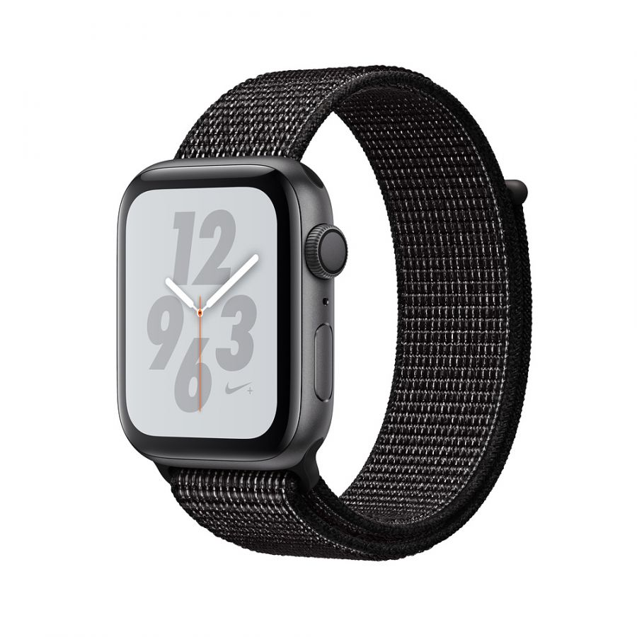 Apple Watch Series 4 Nike+ 44mm Space Gray Aluminum Case with Black Nike Sport Loop