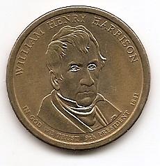 Уильям Генри Гаррисон (1841) 9 президент США 1 доллар США  2009  Монетный двор Р