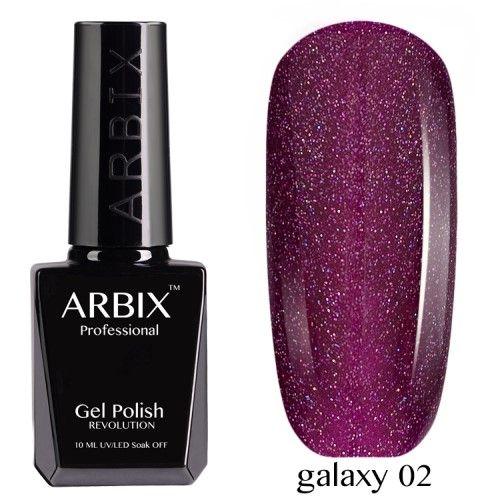 Гель-лак Arbix Galaxy 10 мл таинственная галактика 02