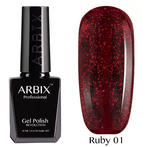 Гель-лак Arbix RUBY 10 мл СОМБРЕРО 01