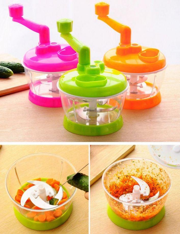 Универсальная механическая овощерезка Multi- functional Food Cooking Machine, цвет Оранжевый
