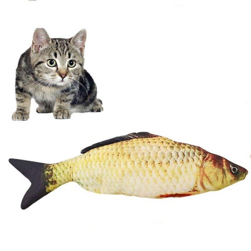 Мягкая игрушка-антистресс для кошек Карась, 40 см