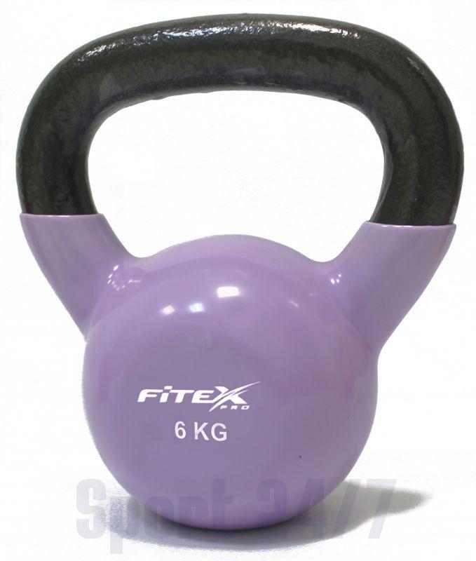 FTX2201-6 Гиря в виниловой оболочке 6 кг FITEX PRO