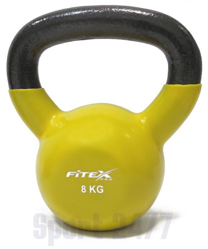 FTX2201-8 Гиря в виниловой оболочке 8 кг FITEX PRO