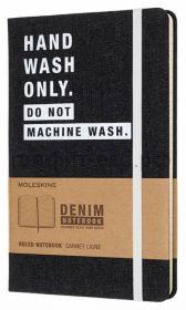 Книжка зап.Moleskine Large DENIM NOTEBOOKS линейка HAND WASH LCDNQP060H