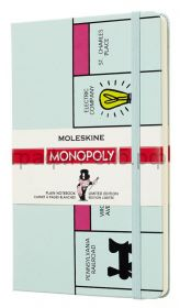 Книжка зап.Moleskine Large MONOPOLY Board нелинованная черный LEMOQP062
