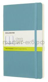 Книжка зап.Moleskine Large Soft Classic нелинованная голубая QP618B35