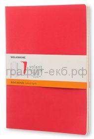 Книжка зап.Moleskine Large Volant линейка бордовая/красная QP721F14F2