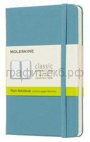 Книжка зап.Moleskine Pocket Classic нелинованная голубая QP012B35