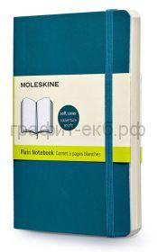 Книжка зап.Moleskine Pocket Classik Soft нелинованная бирюзовая QP613B