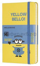 Книжка зап.Moleskine Pocket MINIONS линейка желтый LEMI01MM710M10